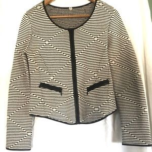 Margaret Oleary sweater/cardigan leather trim